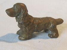 Vintage cast metal bronze wash Cocker Spaniel dog figurine