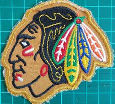 Vintage Chicago Black Hawks NOS Hockey Patch 1973-1992 3x3 Diameter Collectible
