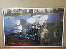 Vintage Poster Harley-Davidson motorcycle car garage man cave 5110