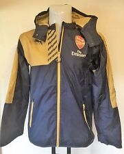 ARSENAL 2015/16 NAVY RAIN JACKET BY PUMA SIZE ADULTS SMALL BRAND NEW WITH TAGS