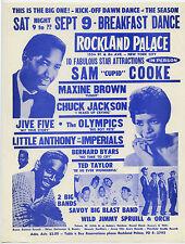 SAM COOKE Maxine Brown CHUCK JACKSON Original 1961 Concert Handbill