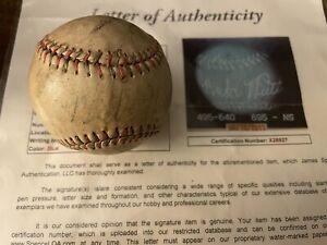 Babe Ruth NY Yankees Signed Auto Tober Baseball JSA letter