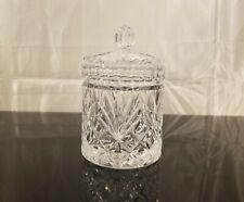 Made In Slovakia CRYSTAL Clear Candy, Sugar, Tea Covered Jar
