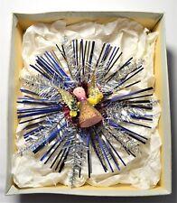 "VINTAGE ALUMINIUM TREE TOP STAR BURST ANGEL LARGE 8"" Inches (20 cm) RARE BOXED"