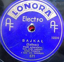 russian USSR siberian 78 RPM- braci polakow-bajkal -lonora electro -1930's