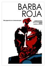 "Japan decor Graphic Design movie Poster 4 film""BARBA roja""Kurosawa samurai art"