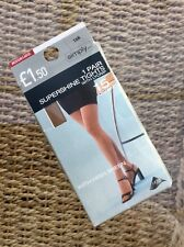 Vintage Simply 15 Denier Supershine Tights, Tan, Medium/Large BNWT, Lycra Blend