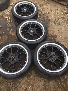 """Vw Seat 18"""" Lenso Diamond Alloy Wheels With Tyres"""