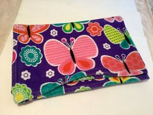 NATURES VISION Plush Throw Blanket Butterflies Purple Pink.Home Decor