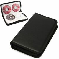 80 Sleeve CD DVD Disc Blu Ray Carry Case Holder Bag Wallet Storage Ring Binders