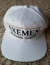 Vintage Wolfville College Axemen Lumberjack Snapback Hat Cap The Game Split Bar