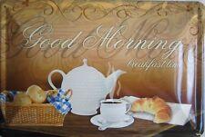 Blechschild 20x30 cm - Good Morning Kaffee Frühstück