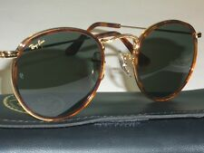 47mm VINTAGE B&L RAY BAN W1675 ROUND GOLD/TORT G15 ROUND AVIATOR SUNGLASSES NEW