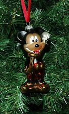 Mickey Moust Blown Glass Christmas Ornament