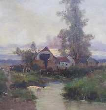 Galien-Laloue Eugene 1854-1941 IDYLLE Abendstimmung DORF bei Metz ? painting art