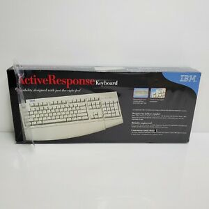 Vintage 2000 IBM Active Response Keyboard White 09N5544 NIB