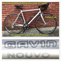 Gavin 56cm Aluminum Road Bike Carbon Fork 700C Wheels 18 Speed Road Bicycle