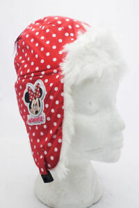 Minnie Mouse Red Winter Hat Minnie Mouse Children's Red White Fleece Trapper Hat