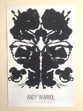 "ANDY WARHOL FOUNDATION LITHOGRAPH PRINT POP ART POSTER ""RORSCHACH INK BLOT"" 1984"