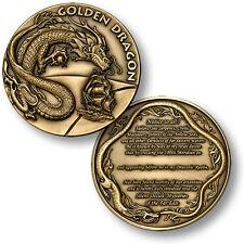 U.S. Navy / Order of the Golden Dragon - USN Engravable Challenge Coin
