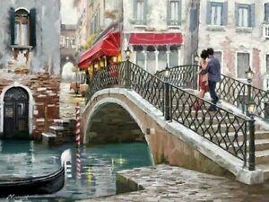 Richard Macneil Venice Bridge Canvas 20X30 Inches Wall Art offer for Christmas