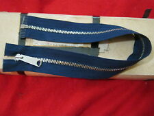 VINTAGE TALON ZIPPER NAVY BLUE 18 7/8 IN METAL TEETH
