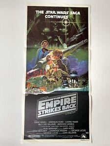 THE EMPIRE STRIKES BACK ~ Original Australian Daybill ~ 1980 ~ Star Wars Poster