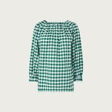 L.K.Bennett Saffron Gingham Green Top