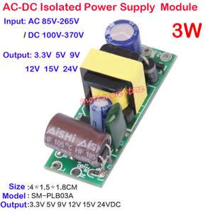 AC-DC 12V 3.3V 5V 9V 15V 24V Step Down Isolated Power Supply Switch Mini Module