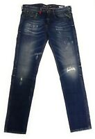 NEU REPLAY NEUE HERREN SLIM FIT JEANS HOSE ANBASS BLUE M914F 118 526 009