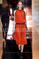 Gucci Silk Pleated Midi Dress Runway New 40 (US 4)