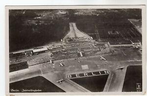 Berlin Airport - Real Photo Postcard c1950s / Flying Display