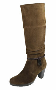 Betty Barclay Damenstiefel Cowboy Absatz Westernstyle braun Wildleder 23869921