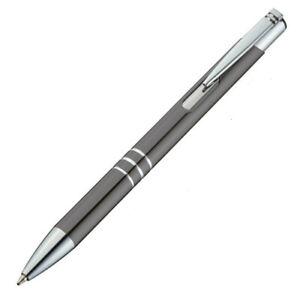 10 Stück Metall-Kugelschreiber - gunmetall - mit Ihrer Wunschgravur Faserlaser