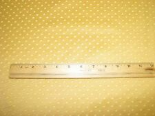 Mustard yellow or gold drapery fabric with textured dots 5 continuous yards