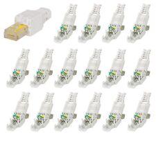 16 Stück RJ45 Cat6 Netzwerkstecker Werkzeuglos toolless Network connector Cat 6