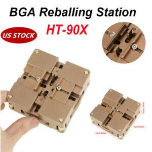 BGA Reballing Station Stencil Solder Rework Soldering Station HT-90X US STOCK