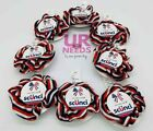 Lot of 8 Scunci Red White Blue Hair Ties Scrunchie Accessories Patriotic Free sh