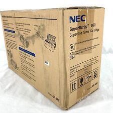 Genuine NEC SuperScript 860 Superfine Toner Cartridge Black 20-080 New