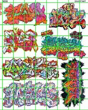 6035 DAVE'S DECAL HO SCALE DECALS URBAN GRAFFITI TRAIN BOXCARS STREET CITY WALLS