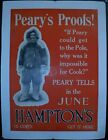 c. 1910 Robert Edwin Peary's Proofs! North Pole Explorer Poster Vintage Original