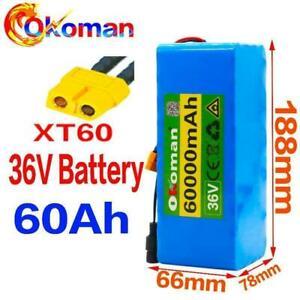36v Battery 10s4p 60ah Battery Pack 500w High Power Battery 42v 60000mah Ebike E