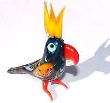 Lampwork Glass Art Murano Glass Bird Handmade Gift Collectible Figurine Parrot