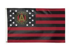 Atlanta United FC America Stars & Stripes Deluxe Indoor Outdoor Flag (3' x 5')