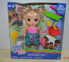 Baby Alive Super Snacks Snackin' Noodles Baby Blonde Girl Doll w/ food & Diaper
