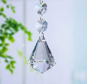 5pcs Crystal Chandelier Lamp Lighting Part Drops Pendants Balls Prisms Hanging