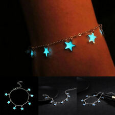 Blue Luminous Star Anklet Ankle Bracelet Foot Chain Barefoot Beach Jewelry Gifts