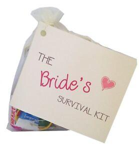 Bride Survival Kit Fun keepsake Novelty Gift Wedding Day for Bride