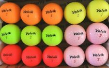New listing 15 VOLVIK VIVID and DS55  MULTI-COLOR used GOLF BALLS, AAAA,  FREE SHIPPING