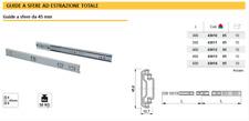 GUIDE SCORREVOLI a SFERE per CASSETTI Portata 50 kg Estrazione Totale Cuscinetti